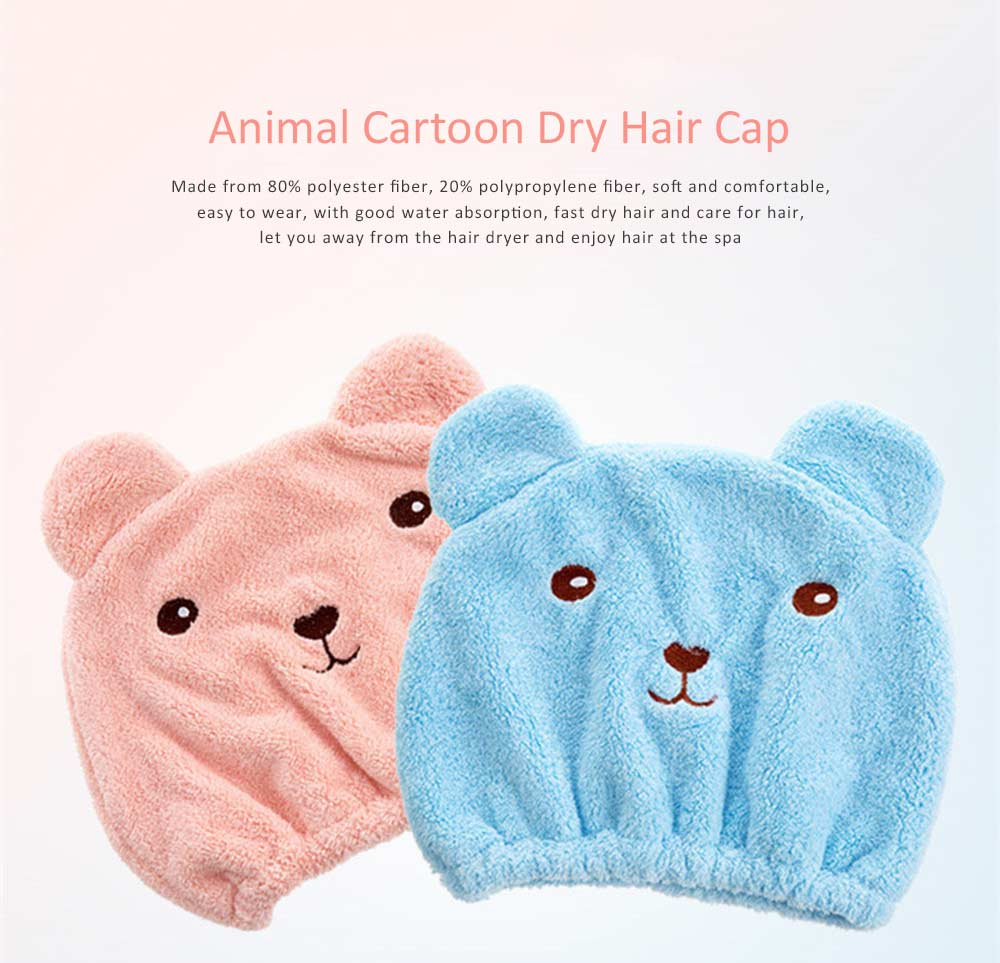 Super Strong Hair Quick-drying Cap, Cute Adult Thick Absorbent Water Shower Cap 0