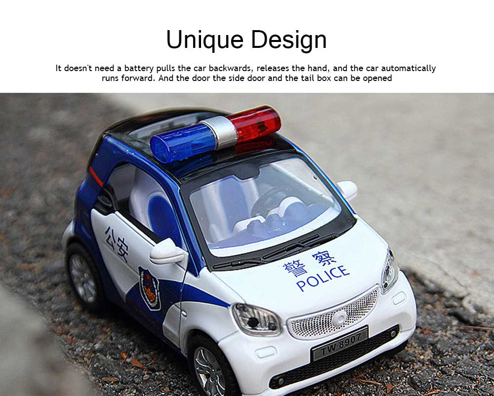Simulation Children's Toy Car, Toy Ambulance, Police Car, Pull Back Car 4