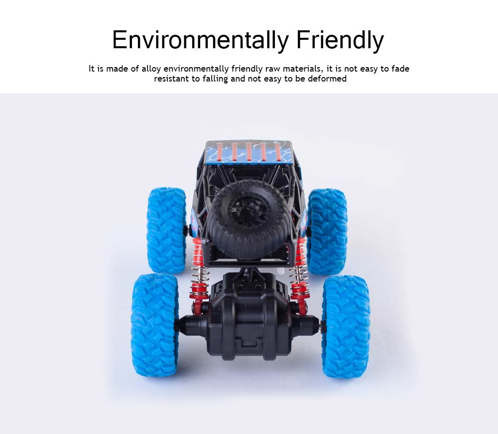 Off-road Vehicle Children's Toy Car, Q Version Cartoon Simulation Spring Shock Big Foot Four Wheel Climbing Car 2