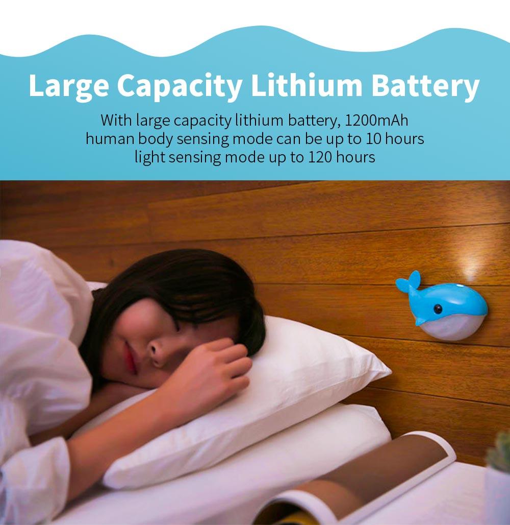 Mini Blue Whale Body Sensor Light, Creative USB Charging Intelligent Light, Bedside Led Night Light 1