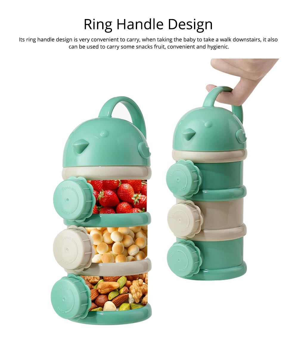 Portable Baby Infant Travel Formula Dispenser Container, 3 Layers Large Capacity Sealed Cans for Baby 5