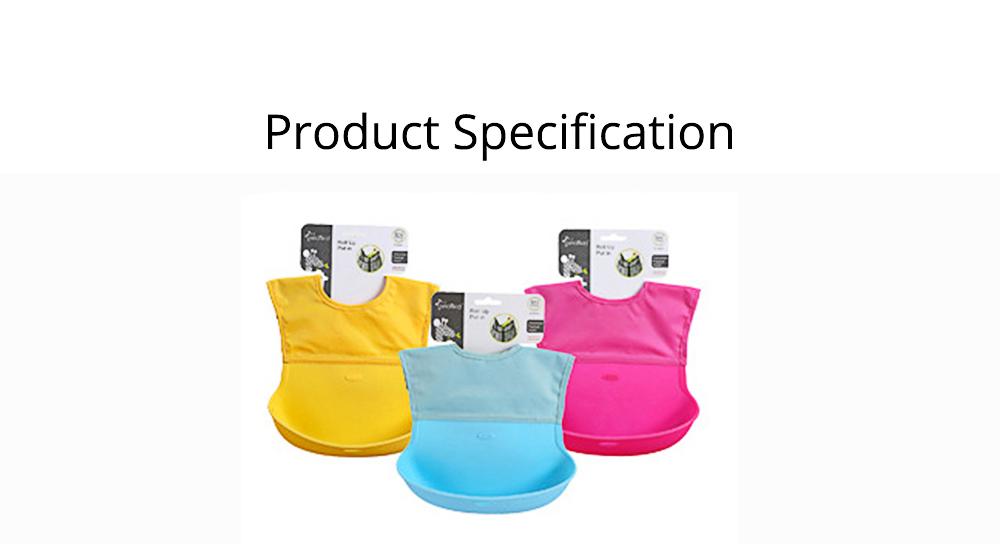 Baby Nylon Upper Waterproof Bib, Large Three-dimensional Soft Silicone Children's Eating Pocket Bib 7
