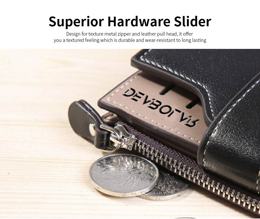 Business Multifunctional Men's Long Wallet with Multi-card And Three-fold, Durable Waterproof Wallet for Photos and Cards 11