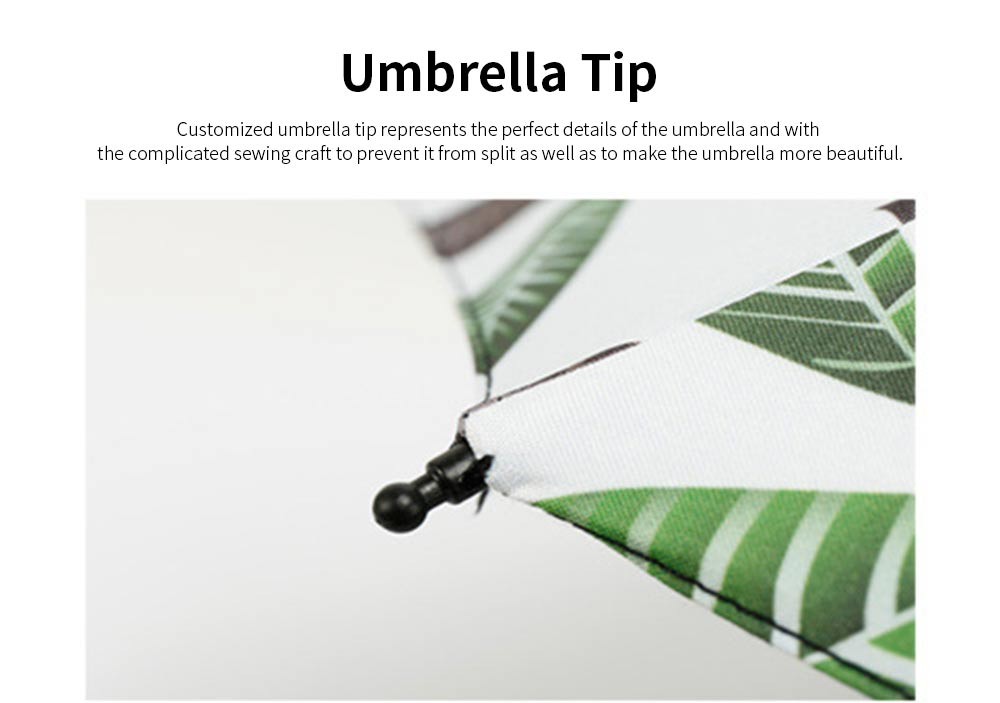 Anti-UV Sun Umbrella with Black Gum, Triple Folding Umbrella With Strong Windproof 2