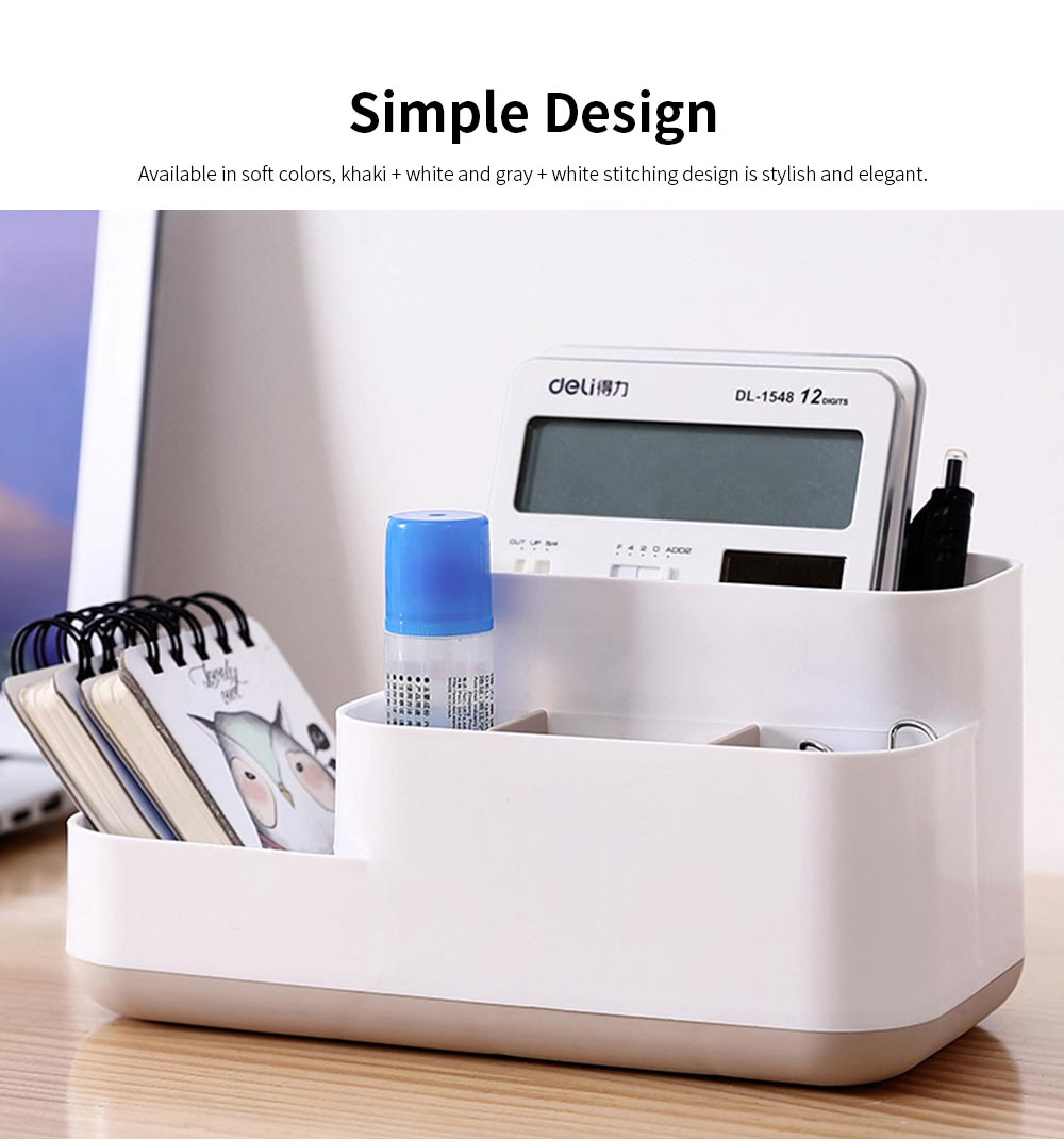 Plastic Storage Box Cosmetic Case, Best Makeup Organizer Box For Household Dormitory Desktop 3