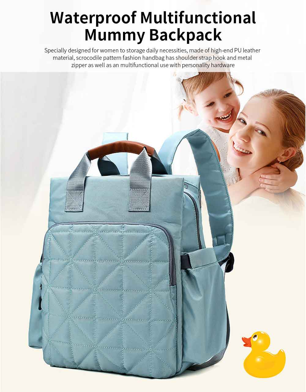 Waterproof Multi-functional Mummy Backpack with Large Capacity 0