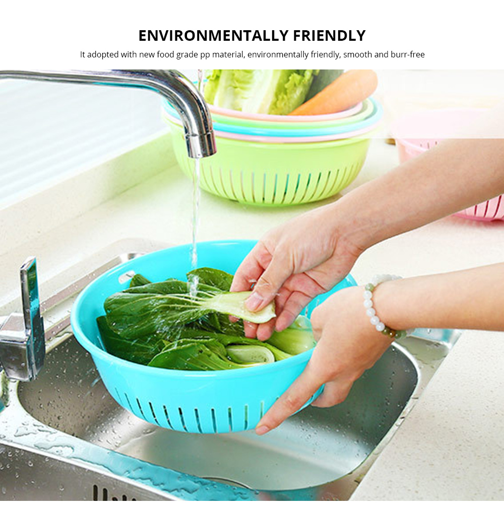 Plastic Drain Washing Basket, Vegetables And Fruit Drain Basket, Storage Container 1