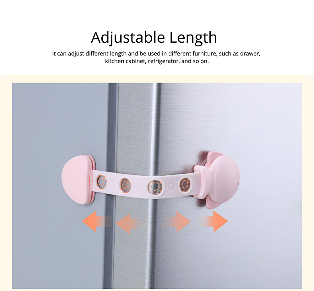 Children's Multifunctional Safety Lock, Anti-pinch Lock for Drawer, Cabinet Door, Refrigerator, Toilet 3
