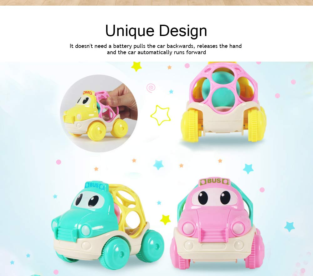 Baby Soft Rubber Inertia Toy Car, Rattle Car Toy for 6-12 Months Baby 1