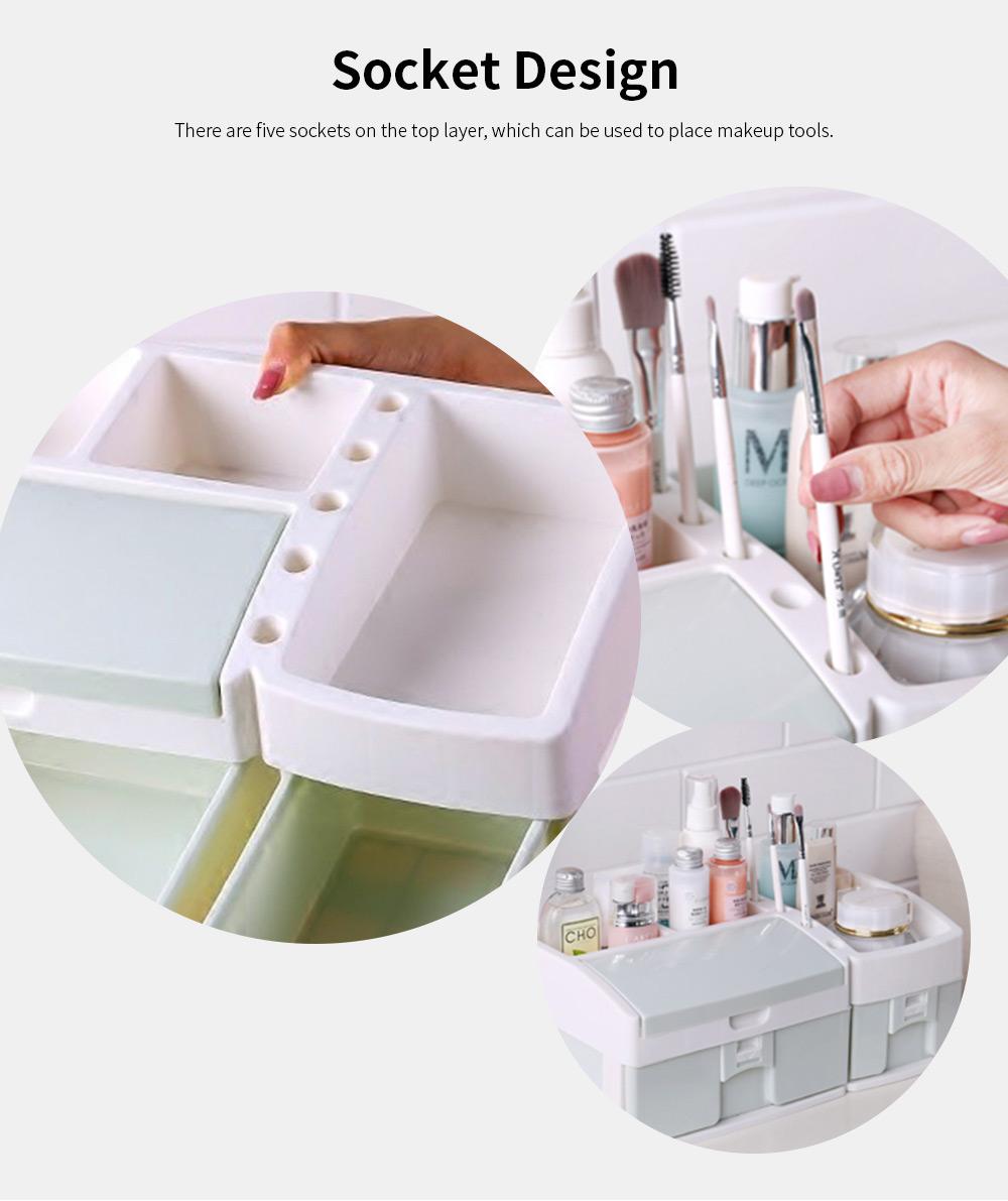 Desktop Dresser Jewelry Lipstick Makeup Organizer Holder, Drawer Type Storage Box for Cosmetic Skin Care Stuff 5