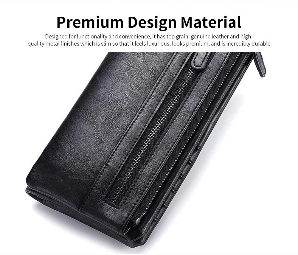 Youth Leather Wallet, Ultra-Soft Lightweight Men'S Long Wallet For Money Credit Card 7