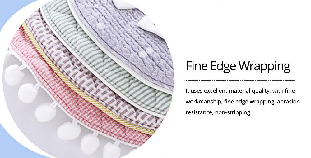 360° Rotating Children's Saliva Towel, Nature Cotton Fabric Lace Round Bib 5