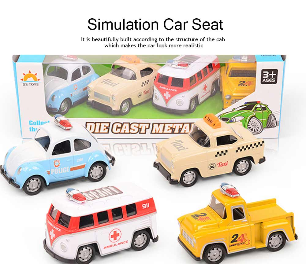 Toy Car Set For Toddlers, Pull Back Car, Alloy Puzzle Car, Mobilization Q Version Mini Car 1