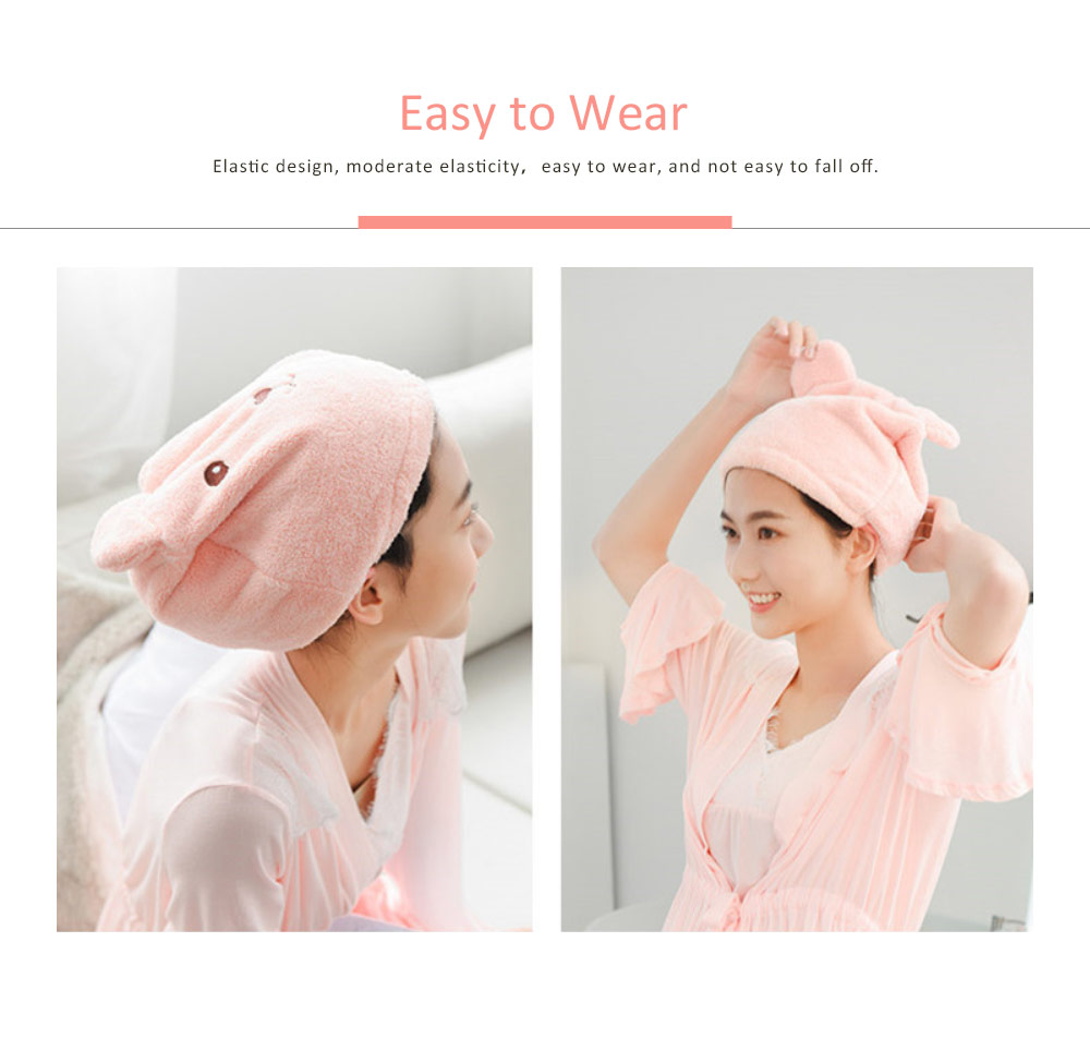 Super Strong Hair Quick-drying Cap, Cute Adult Thick Absorbent Water Shower Cap 1