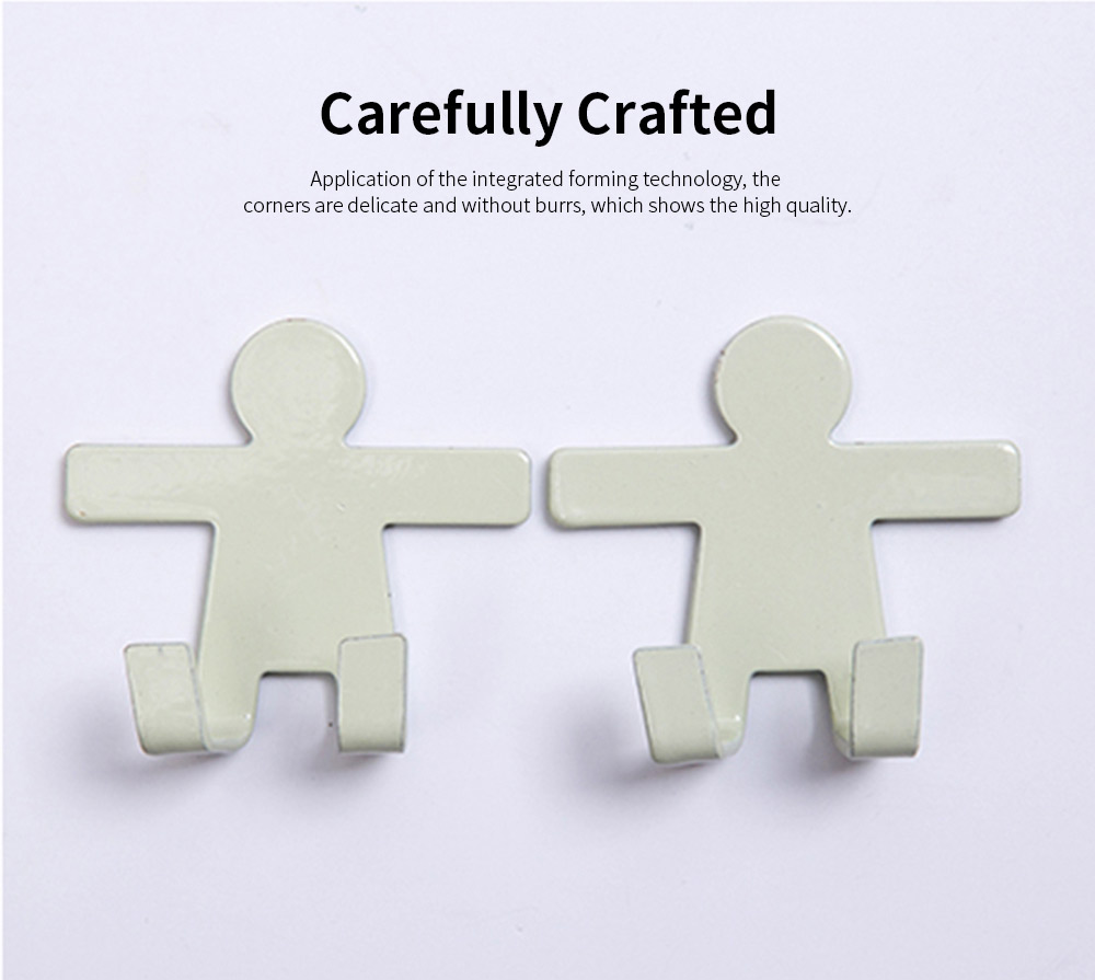 IN Creativity Glue Hook, Nail Free Super Strong Sticky Cute Hanger for Dormitory Wall Door Decoration Hanging Hook 4