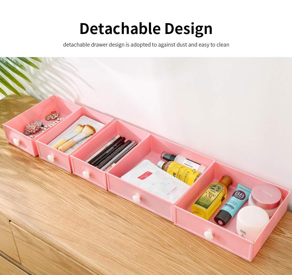 Drawer & Makeup Storage Organizer for Desk, Mask Lipstick Makeup Tools Organizer 5
