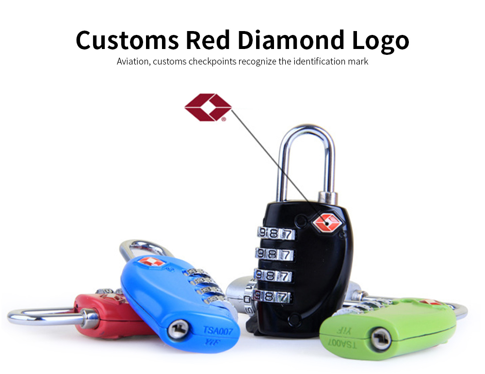 Luggage Locks with 4 Digit Combination for Travel, Baggage, Suitcases & Backpacks 5