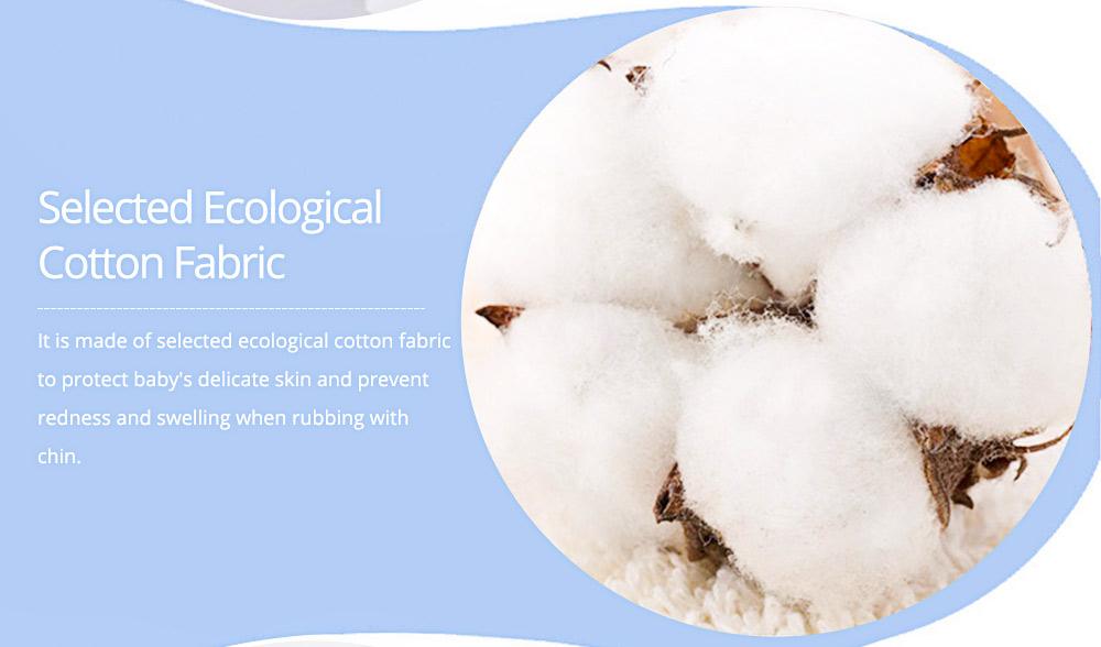 360° Rotating Children's Saliva Towel, Nature Cotton Fabric Lace Round Bib 6