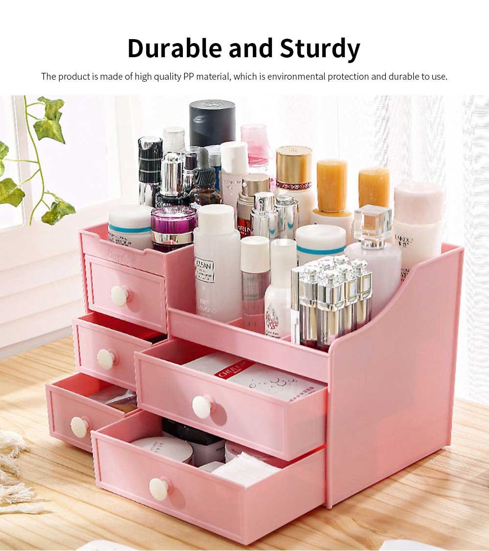 Drawer & Makeup Storage Organizer for Desk, Mask Lipstick Makeup Tools Organizer 3