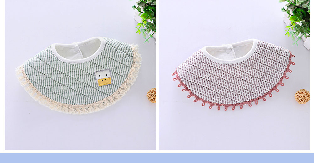 Breathing Baby bibs, Fine Lace Edge Cloth Baby Bib, Wrapping Round Bib 2
