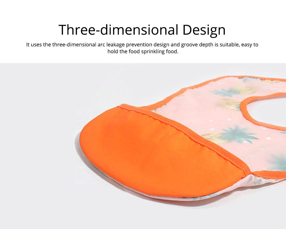 Cotton Baby Eating Bib with Hidden Type Rice Bag, Eva Cartoon Waterproof Disposable Baby's Bib 6