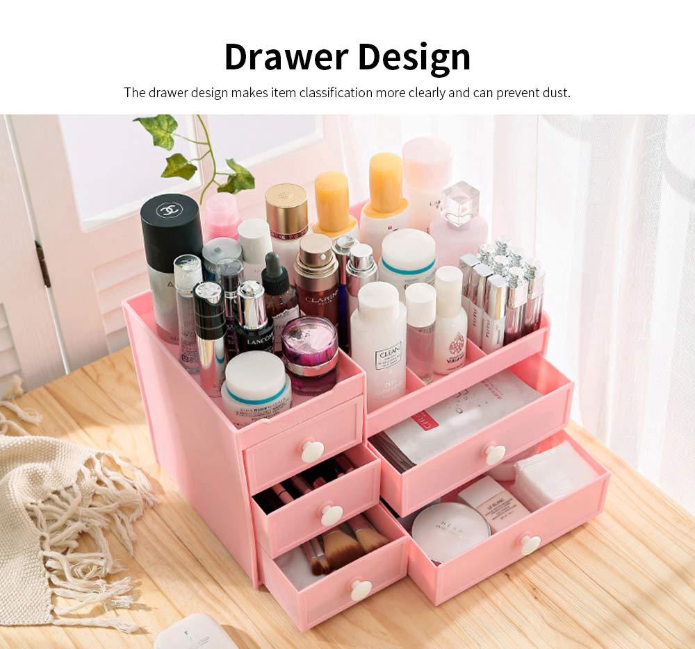 Drawer & Makeup Storage Organizer for Desk, Mask Lipstick Makeup Tools Organizer 1