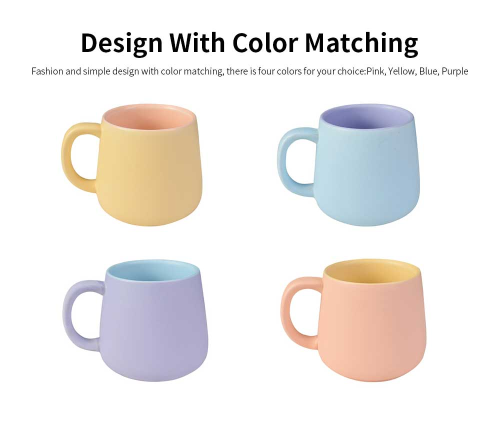 Coffee Mugs For Lovers, Plain Color Matte Texture Coffee Cup 3