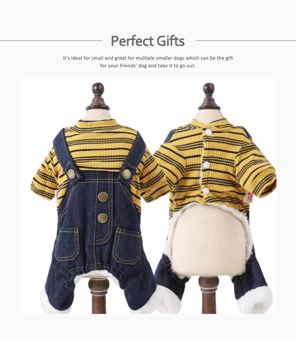 Thick Warm Jeans Pet Clothes, Four-legged Dog Clothes 4