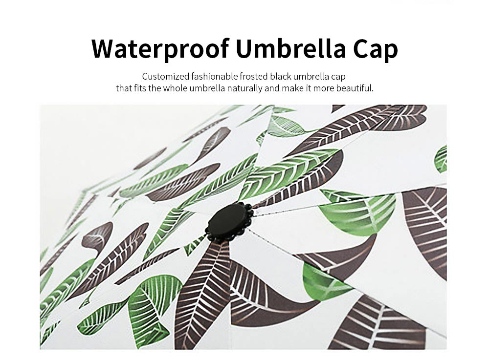 Anti-UV Sun Umbrella with Black Gum, Triple Folding Umbrella With Strong Windproof 3