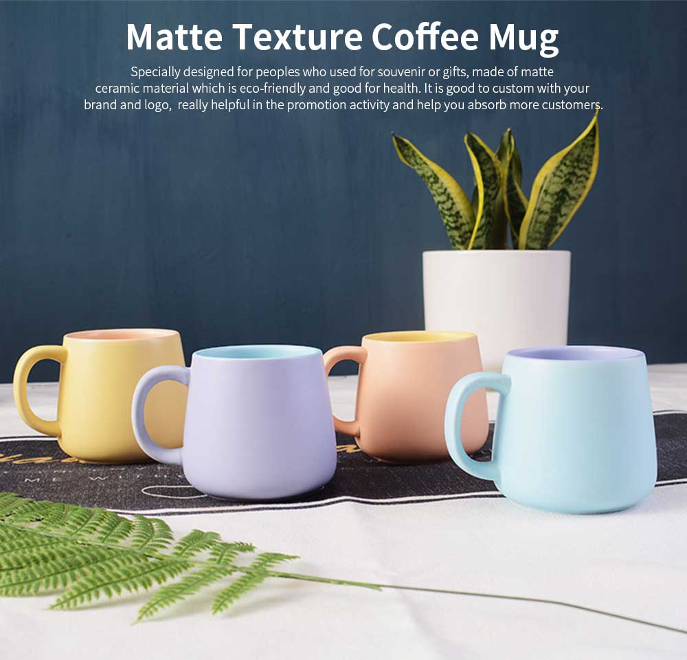Coffee Mugs For Lovers, Plain Color Matte Texture Coffee Cup 0