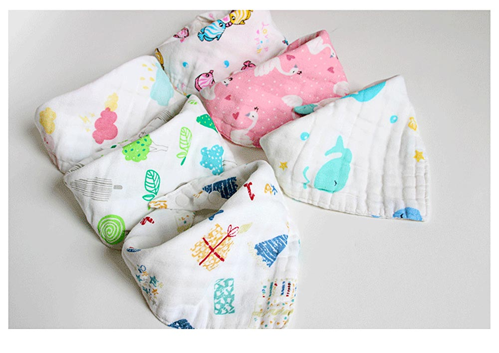 Cotton Baby Bibs For Boys, Multi-Purpose Triangle Towel With Lovely Cartoon Pattern 5
