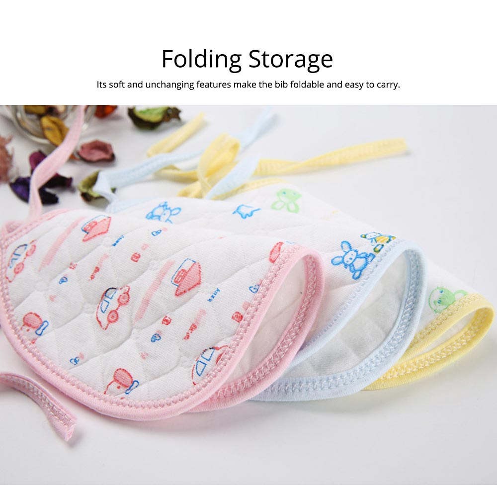 10 PCS Cartoon Baby Bib, Baby Ecological Cotton Fabric Bib With Adjustable Band 5