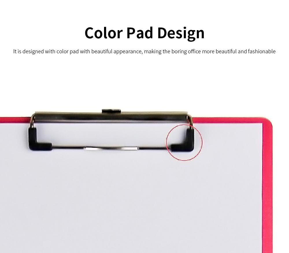 A4 Wooden File Folder, Wooden Board Notepad Desktop Document Holder 3