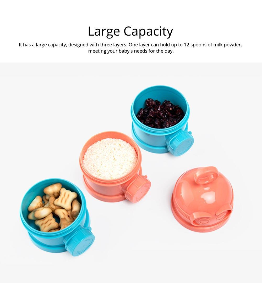 Baby Milk Powder Storage Container, 3 Layers Portable Formula Storage Box 3