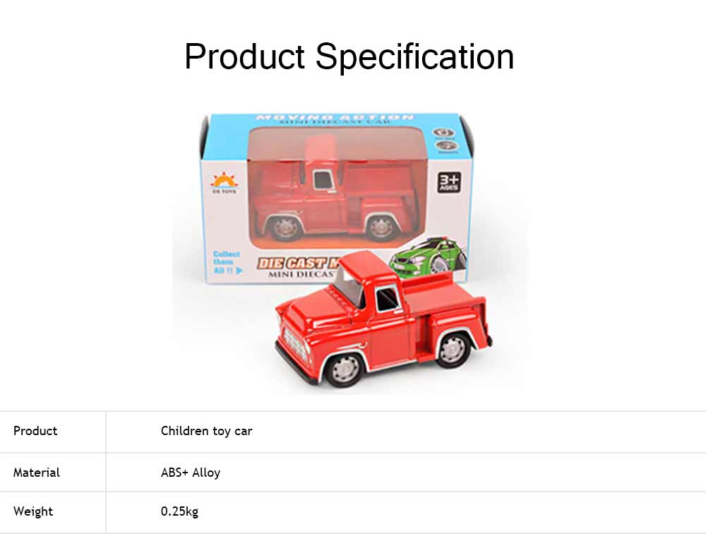 Toy Car Set For Toddlers, Pull Back Car, Alloy Puzzle Car, Mobilization Q Version Mini Car 5