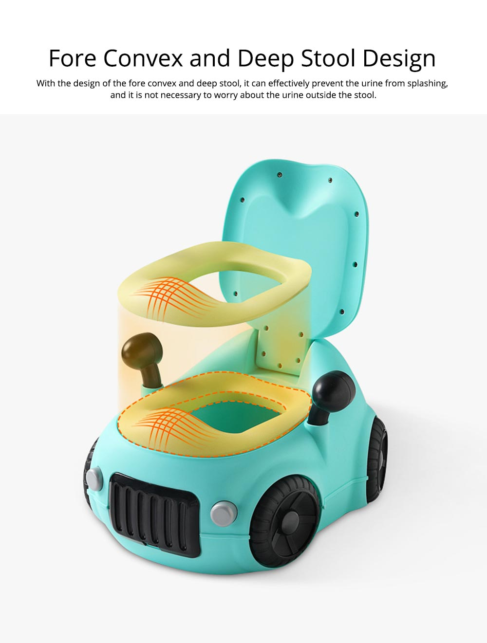 Baby Potty Car, XL Children'S Toilet For Boys And Girls, With High Back Ridge Design 6