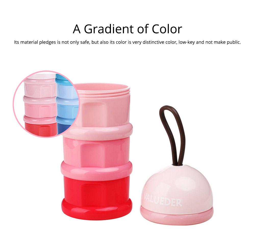 Baby Portable 3-layer Milk Powder Box with Wristband and Spiral Twist Design 5