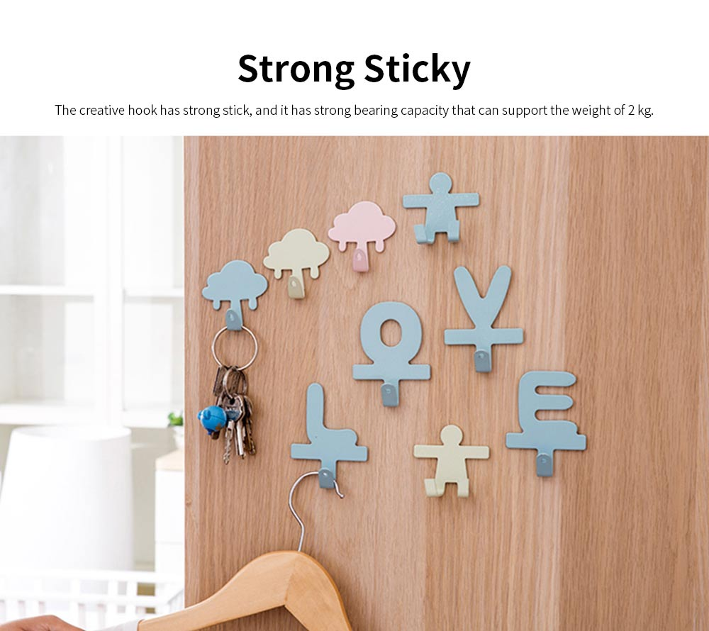 IN Creativity Glue Hook, Nail Free Super Strong Sticky Cute Hanger for Dormitory Wall Door Decoration Hanging Hook 3