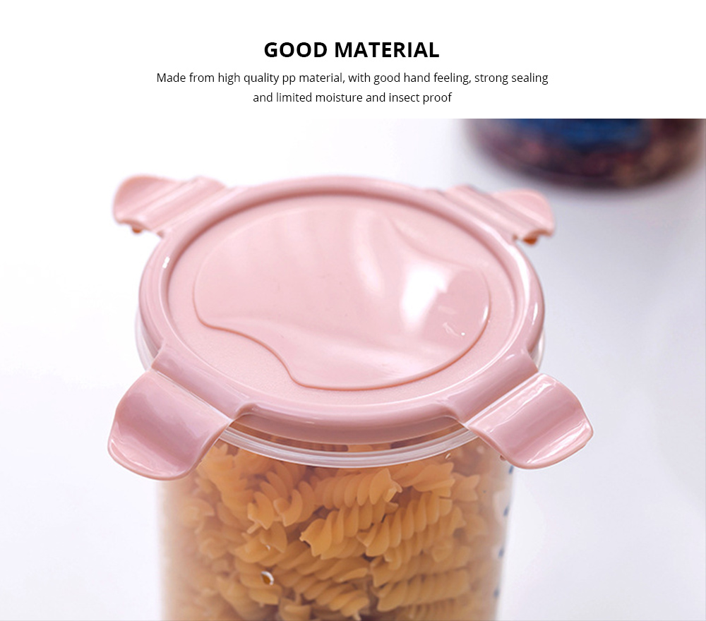 Clear Plastic Food Storage Containers With Lids, Transparent Snack Storage Containers Airtight 4