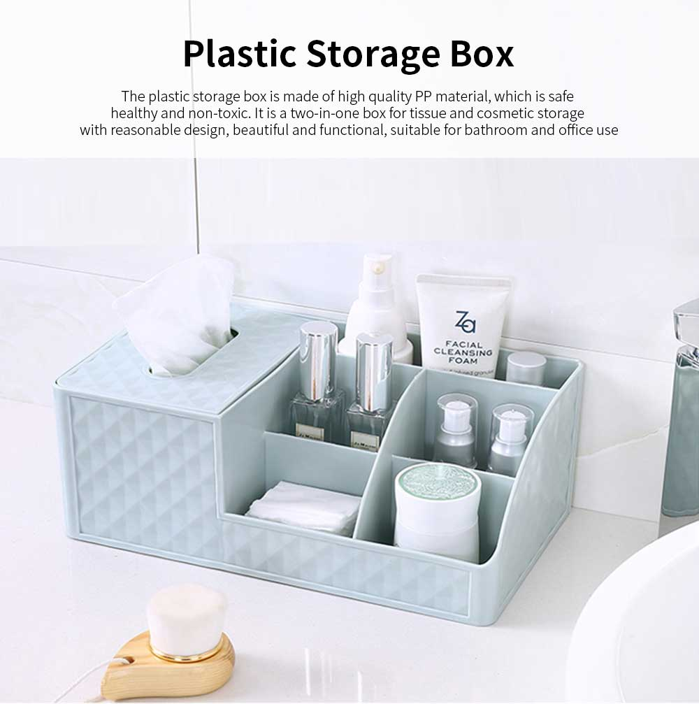 Office Desktop Makeup Organizer, Sundries Table Napkin Box Storage Holder 0