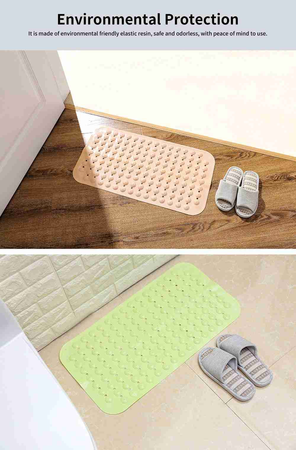 Bathroom Anti Slip Floor Mat, Suction Cup Massage Mat, Toilet Water-Proof Mat 4