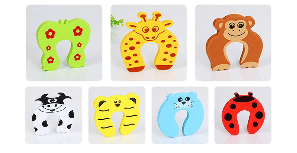 Baby Safety Door Card, Cartoon Creative EVA Windproof Anti-clip Door Stopper for Baby Pinch Guard 17