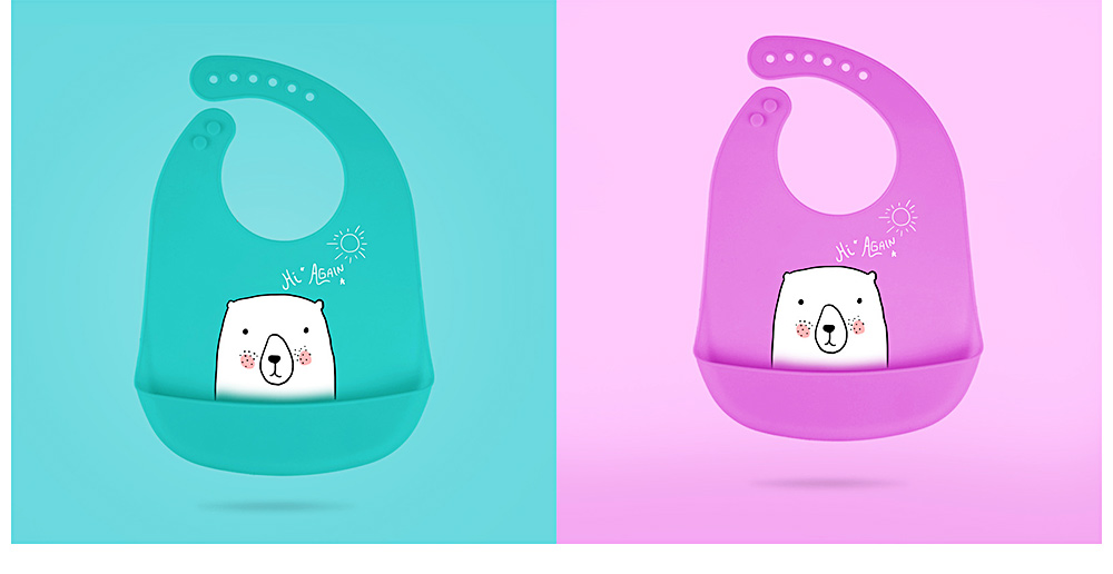 Best Baby Bibs For Eating, Wash-Free Silicone Baby Feeding Bib 13