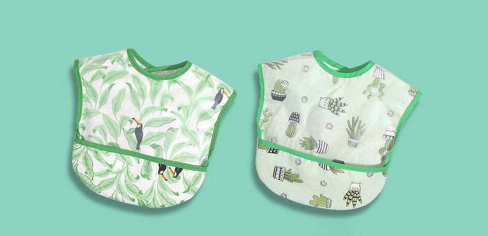 Cotton Baby Eating Bib with Hidden Type Rice Bag, Eva Cartoon Waterproof Disposable Baby's Bib 9