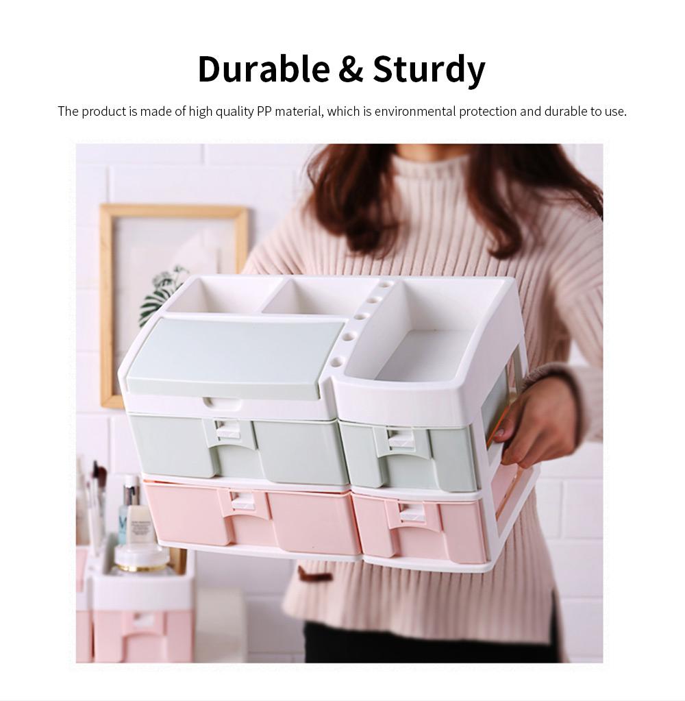 Desktop Dresser Jewelry Lipstick Makeup Organizer Holder, Drawer Type Storage Box for Cosmetic Skin Care Stuff 4