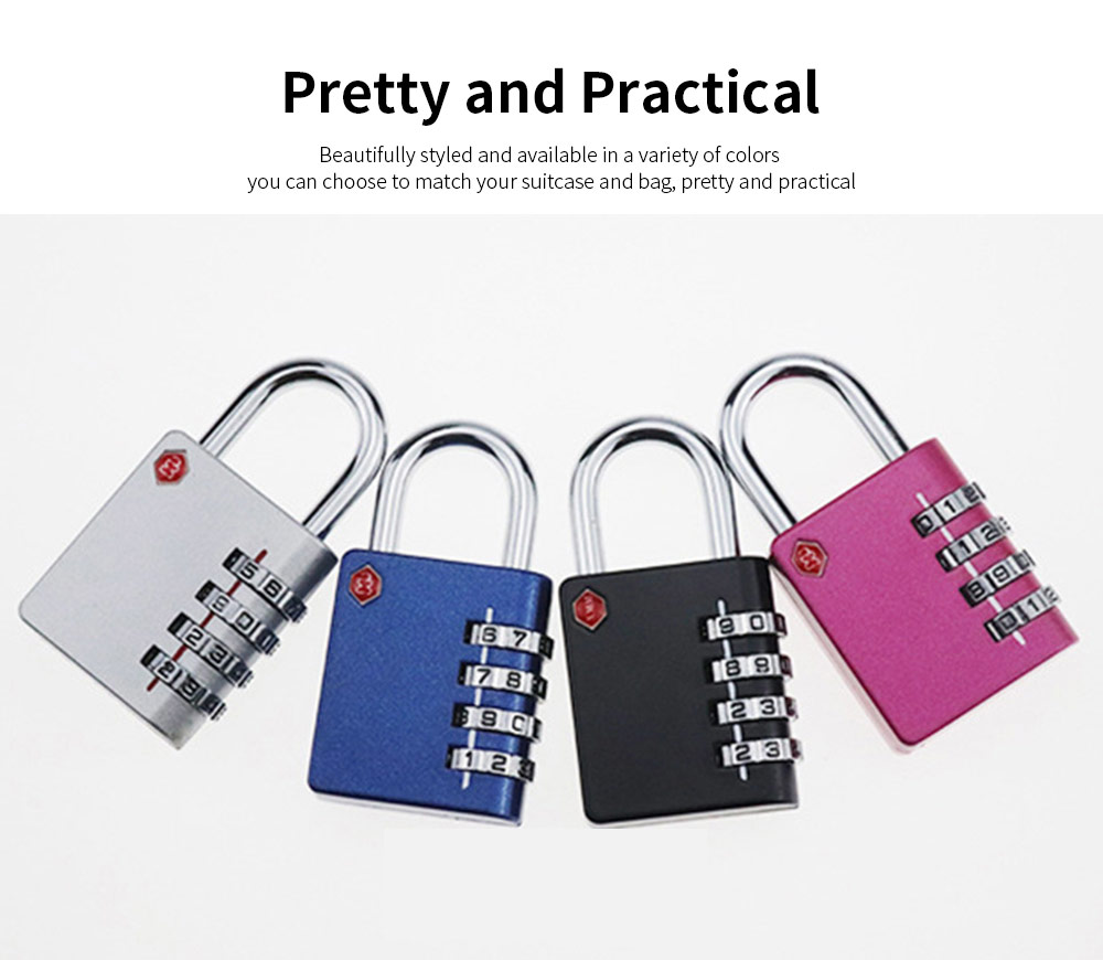 Zinc Alloy Password Lock For Suitcase, Gym Student Dormitory Drawer Cabinet Anti-Theft Password Lock 3
