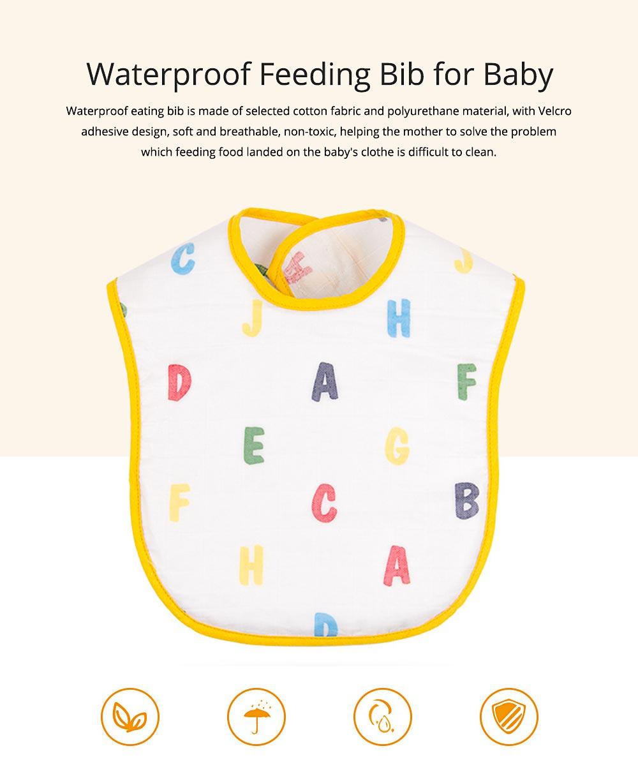 Waterproof Feeding Bib for Baby, Ecological Cotton Fabric Baby's Feeding Disposable Bib 0