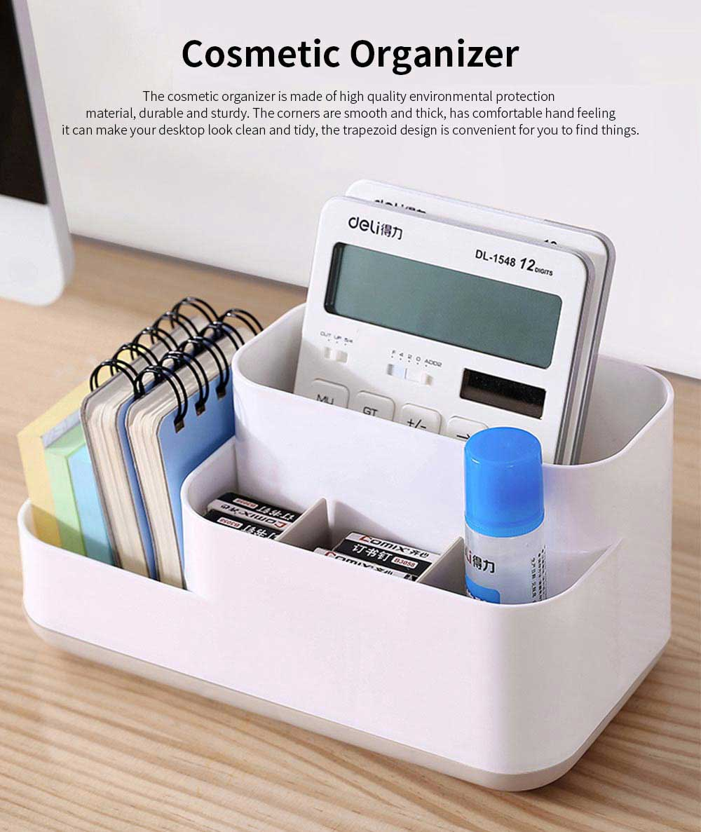Plastic Storage Box Cosmetic Case, Best Makeup Organizer Box For Household Dormitory Desktop 0