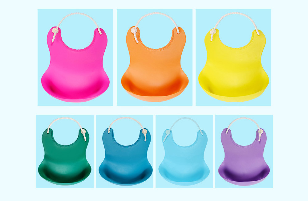 Soft PEVA Waterproof Baby's Bib, Breathable Pocket Groove Bib for Baby 11