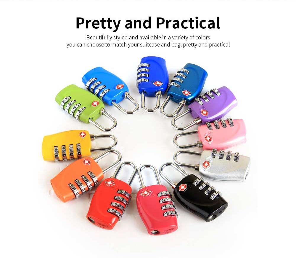 Luggage Locks with 4 Digit Combination for Travel, Baggage, Suitcases & Backpacks 3